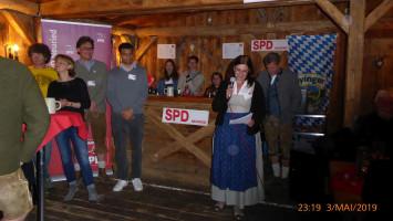 OV-Vorsitzende Mechthild von der Mülbe begrüßt die Gäste