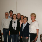 Der neue Vorstand von links nach rechts: Ronald Lindner, Eric Kirschner, Mechthild von der Mülbe, Gerd Richter, Gertrud Reiter-Frick, Helga Handlos, Gis Peitruska