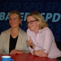 Verena Bentele und Natascha Kohnen