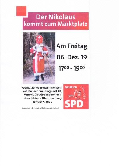 Der Nikolaus kommt zum Marktplatz