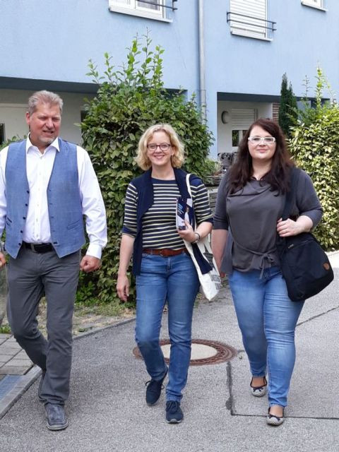 SPD-Spitzenkandidatin in Neuried unterwegs